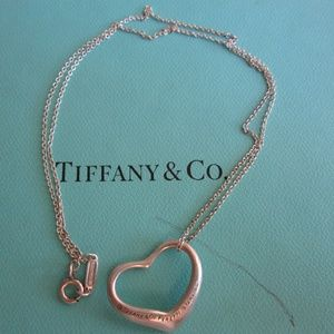 Tiffany and CO Open Heart Necklace 8''